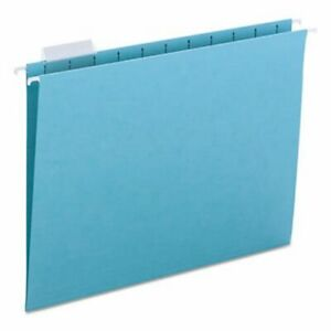 Smead Hanging File Folders 11 Point Stock Letter Aqua 25 box smd64058