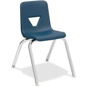 Lorell 16 Seat height Stacking Student Chair Navy 4 carton llr99887