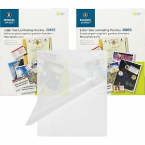 Business Source Laminating Pouches Letter 5mil 100 Pouches bsn20855bd