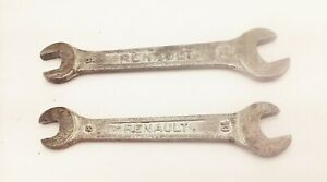 Vtg Renault Open End Metric Wrench 8 10mm 9 12mm Old Auto Car Factory Tools