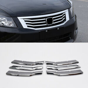 For Honda Accord 2008 2010 Chrome Front Bumper Center Mesh Grille Grill Refit