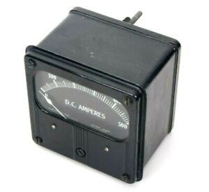 Vintage Westinghouse Direct Current Amperes Meter 0 500 Type Hx Style N 810444