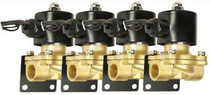 4 Air Ride Suspension Brass Valves 3 8 Npt Mounting Brackets Air Bag System