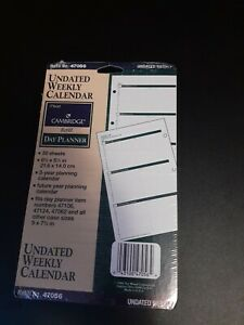 New Sealed Mead Cambridge Day Planner Weekly Calendar 30 Sheets 8 5 X 5 5 47056