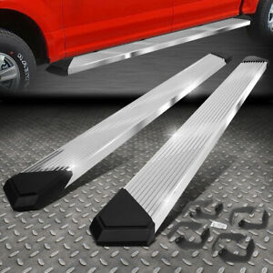 For 07 21 Toyota Tundra Crewmax Cab Chrome 6 Pleated Step Bar Running Boards