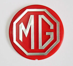 Mgb Mgbgt Le Rouge Argent Direction Roue Route Centre Badge Mg Bhh2687