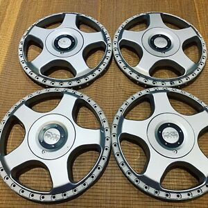 Set Oz Racing 17 Hamann Pg1 Centers 5x112 Mercedes Audi Vw Super Rare