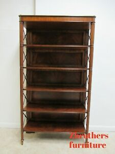 Maitland Smith Regency George Iv Etagere Bookcase Shelf Display Flame Mahogany