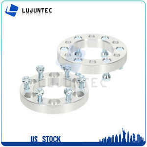 2pcs 6x5 5 12x1 5 Studs 1 Thick Wheel Spacers Adapter Fits All 6 Lug Pickups