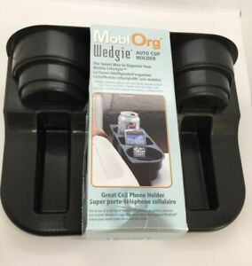 Mobiorg Wedgie Auto Cup Holder Black
