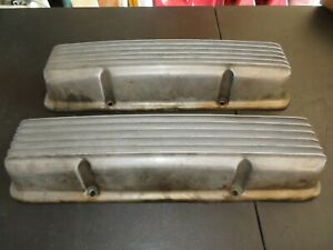 Vintage Chevy Sbc 283 302 327 350 Holmes Moon Eyes Aluminum Valve Covers