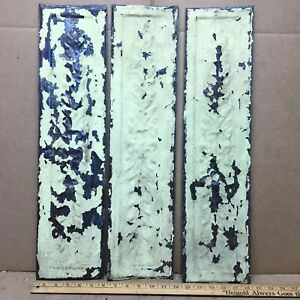 3 Pc 24 X 6 Fancy Antique Ceiling Tin Vintage Reclaimed Salvage Art Craft