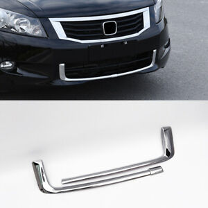 For Honda Accord 2008 2010 Abs Chrome Front Lower Grille Grill Mesh Refit 2pcs