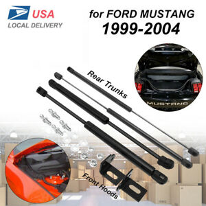 Vehicle Front Hoods tailgate Trunk Gas Struts For Ford Mustang 1999 2004 X4 Usa