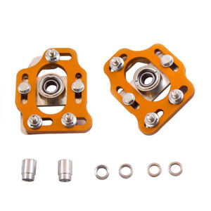 Pair Camber Plate Top Mounts For Ford Mustang 79 89 Coilover Shock Pillow Ball