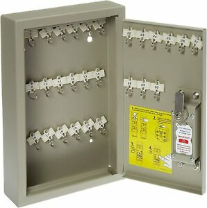Key Lock Box Cabinet Locking Combination Steel Safe Wall Mount Storage Secure Us