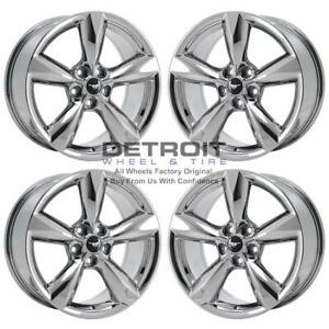 18 Ford Mustang Pvd Chrome Wheels H Rims Factory Oem 10029 Exchange 2015 2020