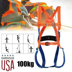 5 Point Full Body Safety Work Harness Fall Arrest Personal Protective 100kg