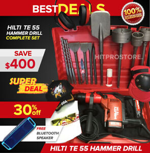 Hilti Te 55 Hammer Drill Preowned Free Speaker Bits Extras Fast Ship