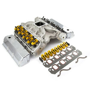 Ford 302 351c Cleveland Solid Ft Cnc Cylinder Head Top End Engine Combo Kit