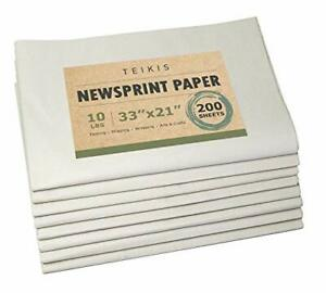 Clean Newsprint Packing Paper Unprinted 200 Sheets 10 Lbs 33 X 21 Inch