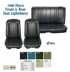 1968 Nova Bucket Rear Bench Seat Upholstery In Your Choice Of Factory Color