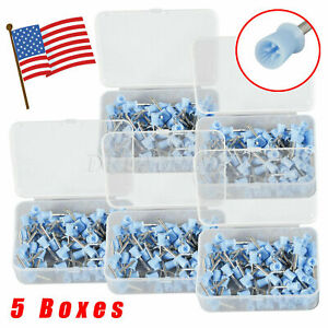 5 Boxes Dental Prophy Cup Rubber Polish Brush Polishing Tooth Latch Firm Blue Us
