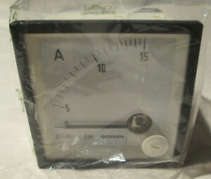Gmw 15a Amp Ampere Meter 600v Catiii Square Analogue Display Unit New 1601ecc15