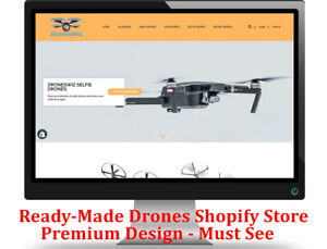 Shopify Dropshipping Drones Store website Ready Made Premium Design Must See