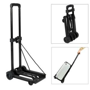 Luggage Cart Folding Dolly Push Hand Truck Moving Warehouse Collapsible Trolley