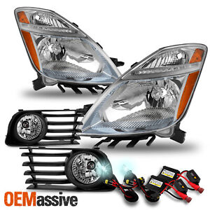 For 06 09 Toyota Prius Oe Style Fog Lights Headlight Pair Assembly 8000k Hid