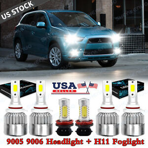 For Mitsubishi Lancer 2008 2009 2010 2011 2012 2013 Led Headlight fog Light Bulb