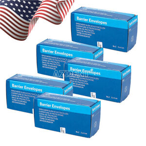 5 Packs Dental X ray Scanx Barrier Envelopes Size 2 300pc pack