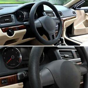 14 15 16 Inch Soft Silicone Car Steering Wheel Cover Non Slip Black Usa Stretch