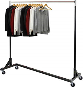 Simple Houseware Commercial Z Base Garment Rack Black