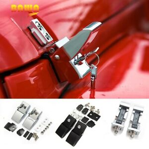 Lock Hood Set With Key For Jeep Wrangler Jk 2007 2018 Engine Cover Accessories