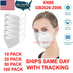 Kn95 Protective 5 Layers Face Mask Disposable Mouth Cover Pm2 5 Respirator Bfe