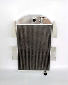 Aluminum Radiator Fit 1934 36 Chevy Pickup Truck Street Rod Chevy Engine Only