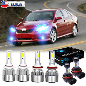 For Toyota Camry 2007 2014 8000k Led Headlight Fog Light Combo 6x Bulbs