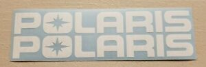 White Decal Polaris 5 9 11 16 Wide 2 Or 4 Packs With Tracked Shipping