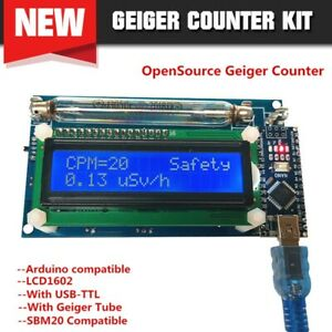 Assembled Diy Geiger Counter Nuclear Radiation Detector System lcd Arduino Nano