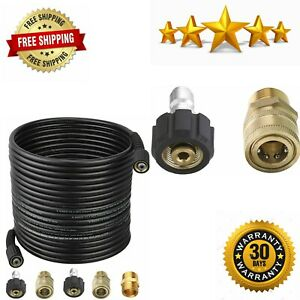 Pressure Washer Hose 50 Feet X 1 4 Inch For Most Brands With 2 Quick Connect Kit