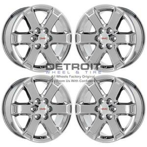 18 Gmc Acadia Pvd Bright Chrome H 4 Wheels Rims Factory Oem 7052 2009 2017