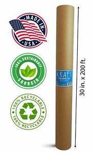 Kraft Brown Wrapping Paper Roll 30 X 2 400 200ft Recyclable Craft Construction
