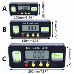 Digital Display Magnetic Electronic Level Horizontal Inclinometer Angle Ruler