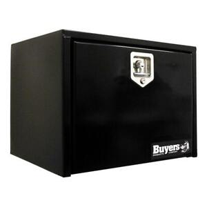Black Steel Underbody Truck Tool Box With T Handle Latch Storage System Cargo