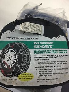 Alpine Sport Tire Snow Chains Stock 2319 Complete Free Shipping