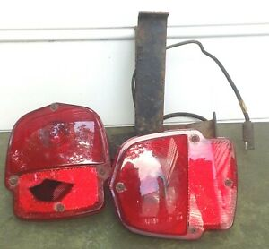Ford F100 Pickup Truck Taillights With Arms Hot Rod Vintage Trst 55 56 Set Of 2