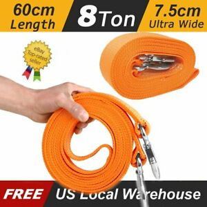 Heavy Duty Tow Winch Strap 3 x 20 Rope Hook Car Boat Trailer 18000lb Max Towing