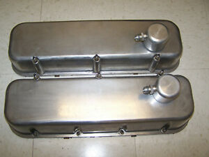 B B Valve Covers Cast Aluminum For Big Block Chevy Bbc W Locking Breathers Used
